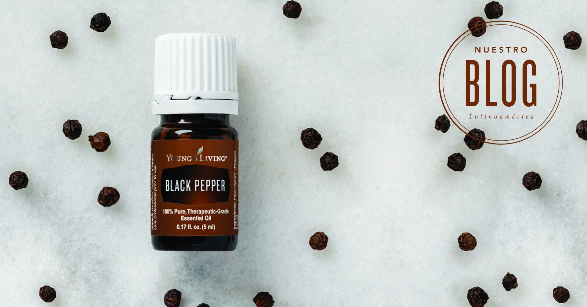 Usa aceite esencial de Pimienta Negra