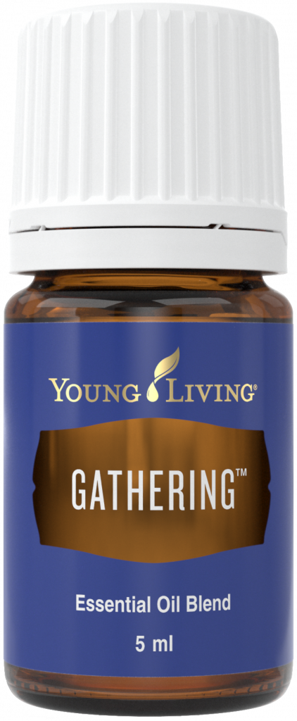 Bottle of Young Living Gathering essential oil