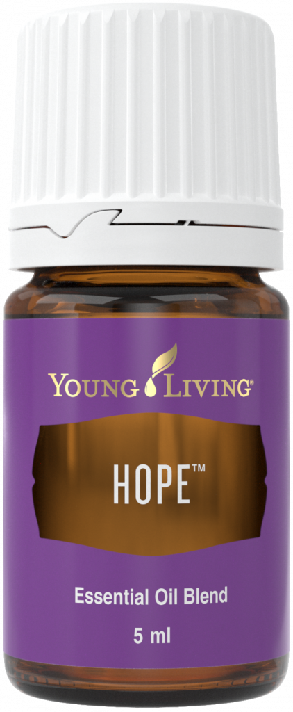 bottle of young living hope essential oil