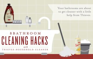 8 Bathroom cleaning Hack with Thieves household Cleaner Young Living