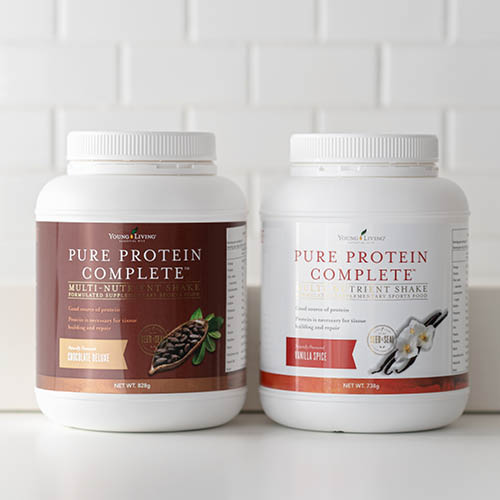Introducing Protein Complete in Chocolate Deluxe or Vanilla Spice