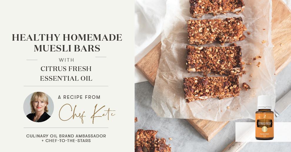 Healthy Homemade Muesli Bars Header