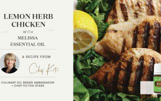 Lemon Herb Chicken with Melissa Essential Oil Header