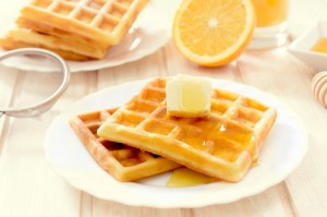 Essential Oil infused waffle mix