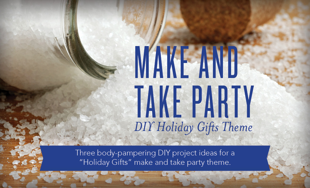 Make And Take Party Diy Holiday Gifts Theme Young
