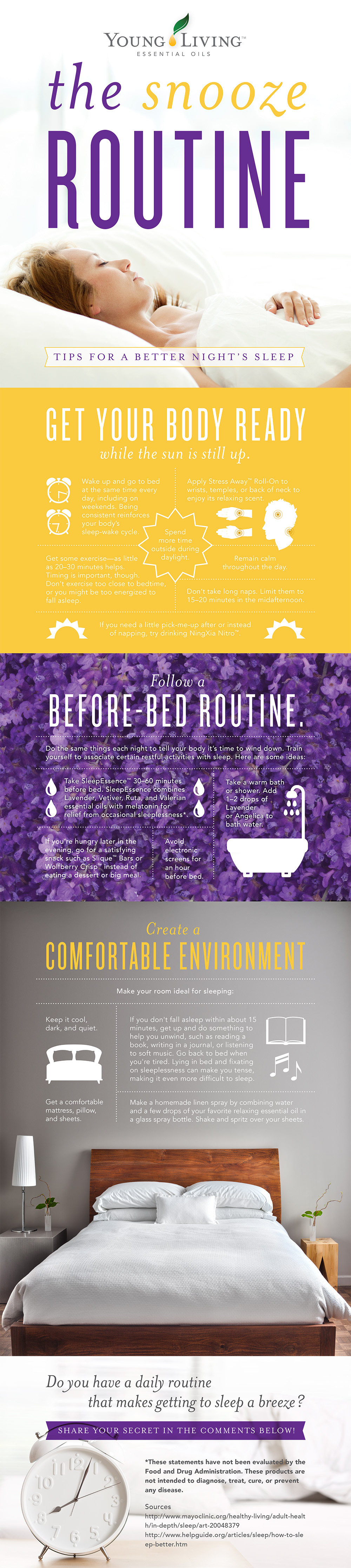 Young Living Essential Oils Tips for a Better Night's Sleep