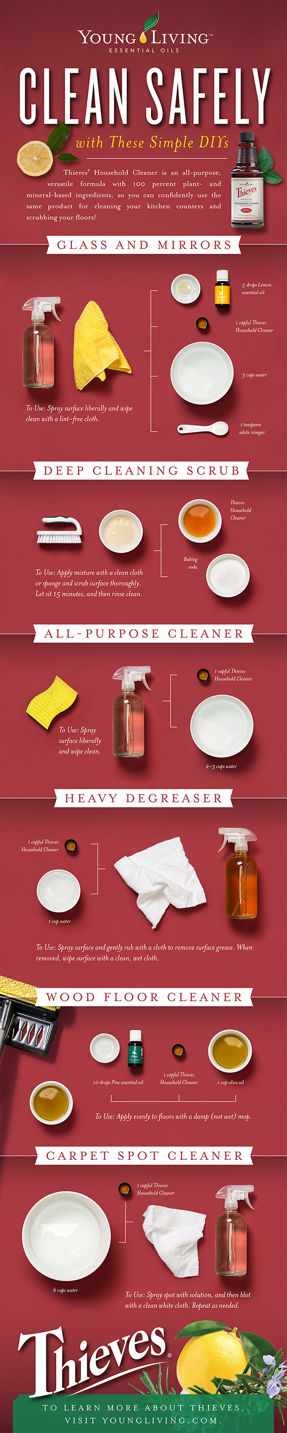 Clean Safely with Young Living - DIY Cleaning Recipes