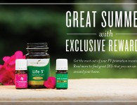 June 2015 PV Promo - Young Living - Geranium, Life5, Jade Lemon