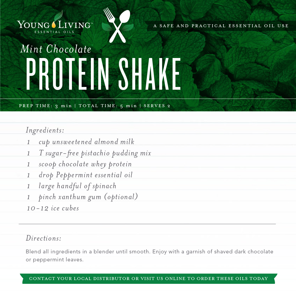 Mint Chocolate Shake - Young Living