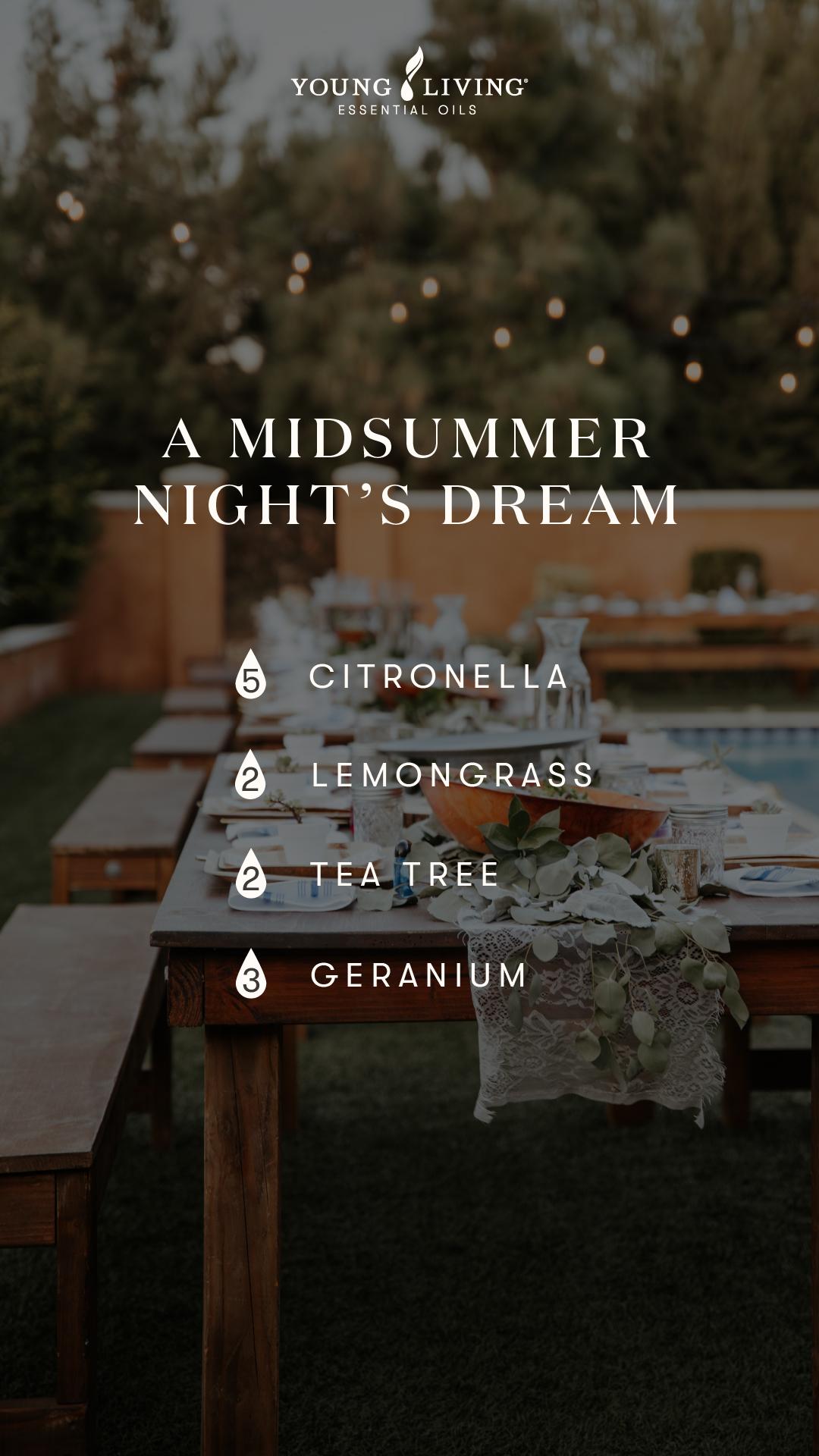 A midsummer night's dream diffuser blend
