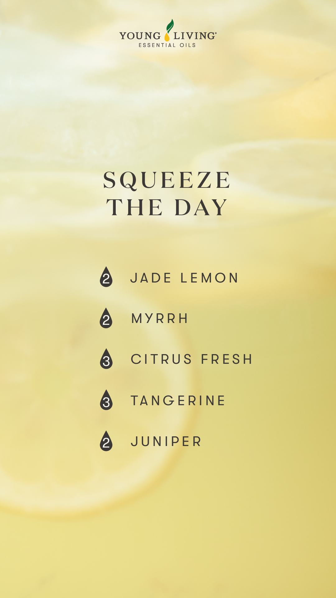 Squeeze the day diffuser blend