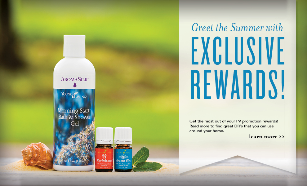 Young Living July Promotion - Ravintsara, Morning Start Bath & Shower Gel, AromaSiez