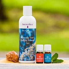 Young Living July Promotion - Ravintsara, Morning Start Bath & Shower Gel, AromaSiez