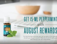 Young Living August 2015 PV Promo - Basil, Peppermint, and Longevity