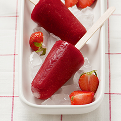 Strawberry Lemon Lime, Yogurt Parfait, and NingXia Red Orange Popsicles - Young Living
