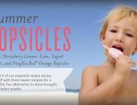 Strawberry Lemon Lime, Yogurt Parfait, and NingXia Red Orange Popsicles - Young Living