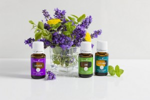 Young Living Peppermint Oil, Lavender Oil, and Lime Oil
