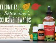 September PV Promo - Lemon, Tangerine - Young Living
