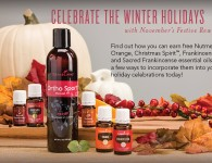 Young Living November 2015 PV Promo - Ortho Sport, Christmas Spirit, Frankincense, Sacred Frankincense, Orange, Nutmeg