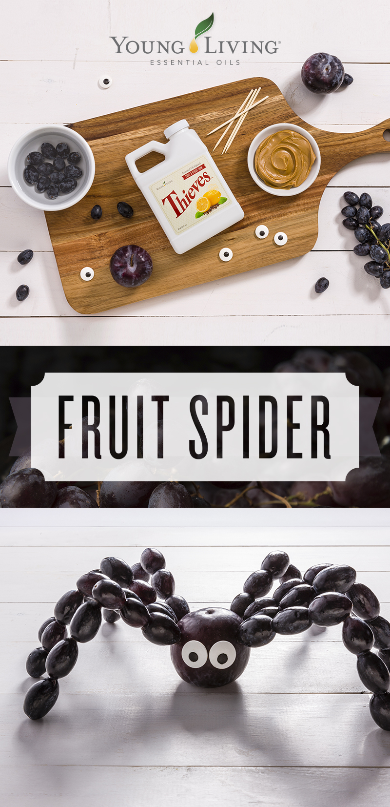 Healthy Halloween Treat - Fruit Spider - Young Living
