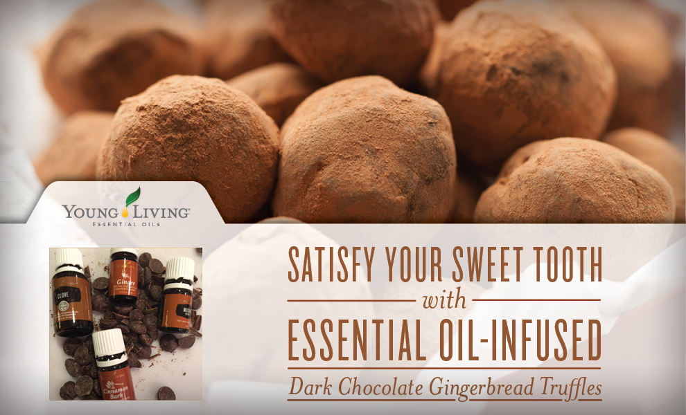 Young Living Essential Oils - Dark Chocolate Gingerbread Truffles