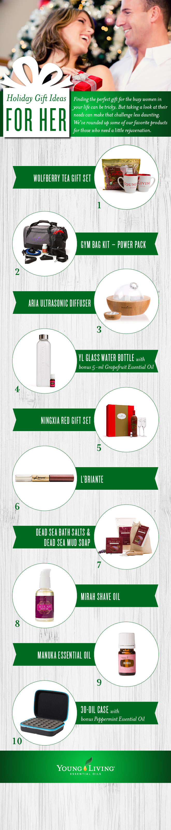 Gifts For Her Holiday Guide | Young Living Blog