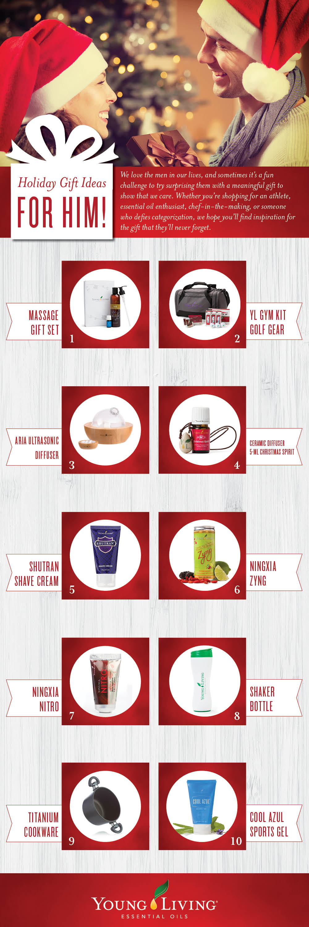 "Young Living ""Gifts for Him"" Ideas"