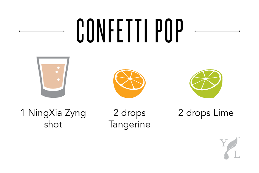 "NingXia Bar Shot Idea ""Confetti Pop"" - Young Living"