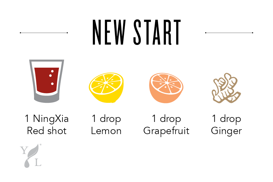 "NingXia Bar Shot Idea ""New Start"" - Young Living"