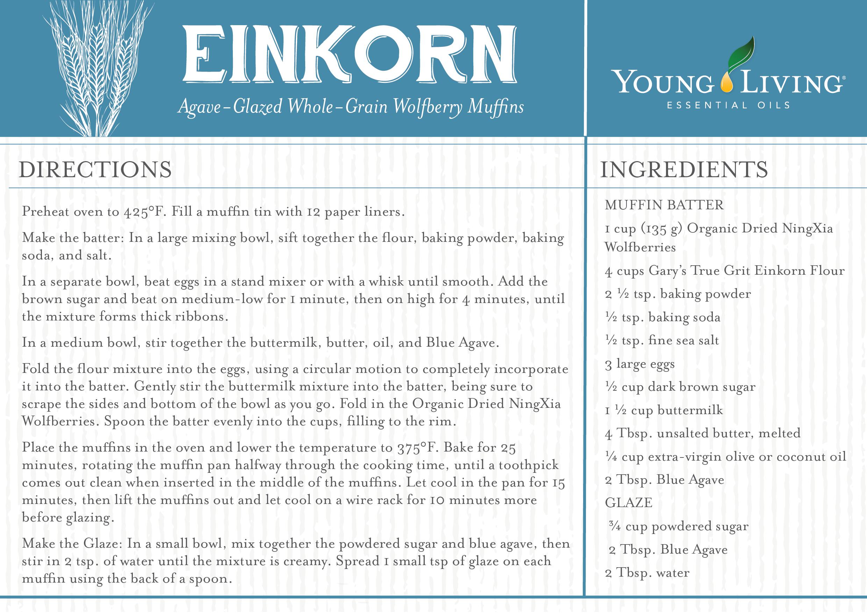 Einkorn wolfberry muffins abundance with yl for Wohnlandschaft young living
