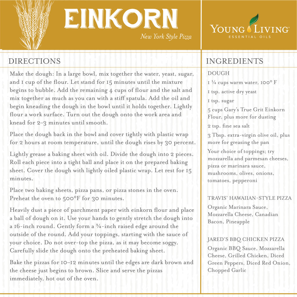 Einkorn Flour - New York Style Pizza - Young Living