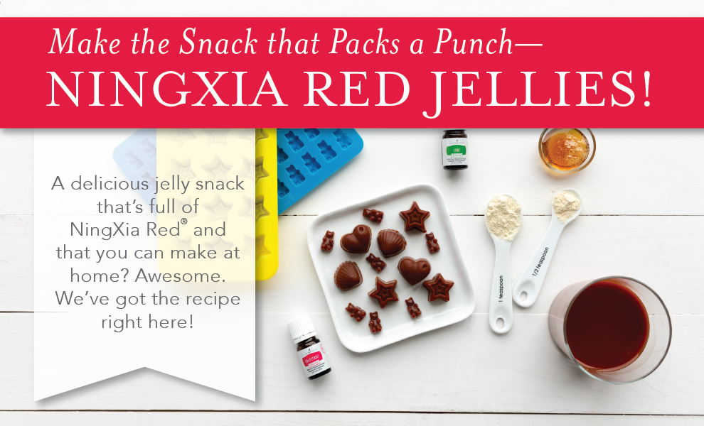 NingXia Red Jelly Treats with Grapefruit Vitality Essential Oil and Lime Vitality Essential Oil