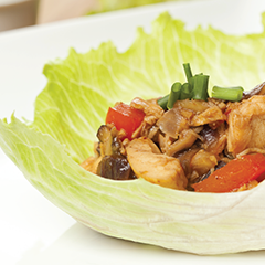 Thai Style Lettuce Wraps using Young Living's Basil Vitality and Ginger Vitality Essential Oils