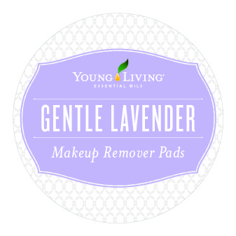 Young Living Lavender Makeup Remover Lid Label