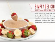 Cinnamon Fruit Dip Recipe