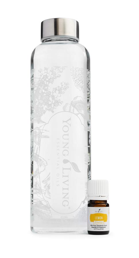 Water Bottle and Lemon Vitality