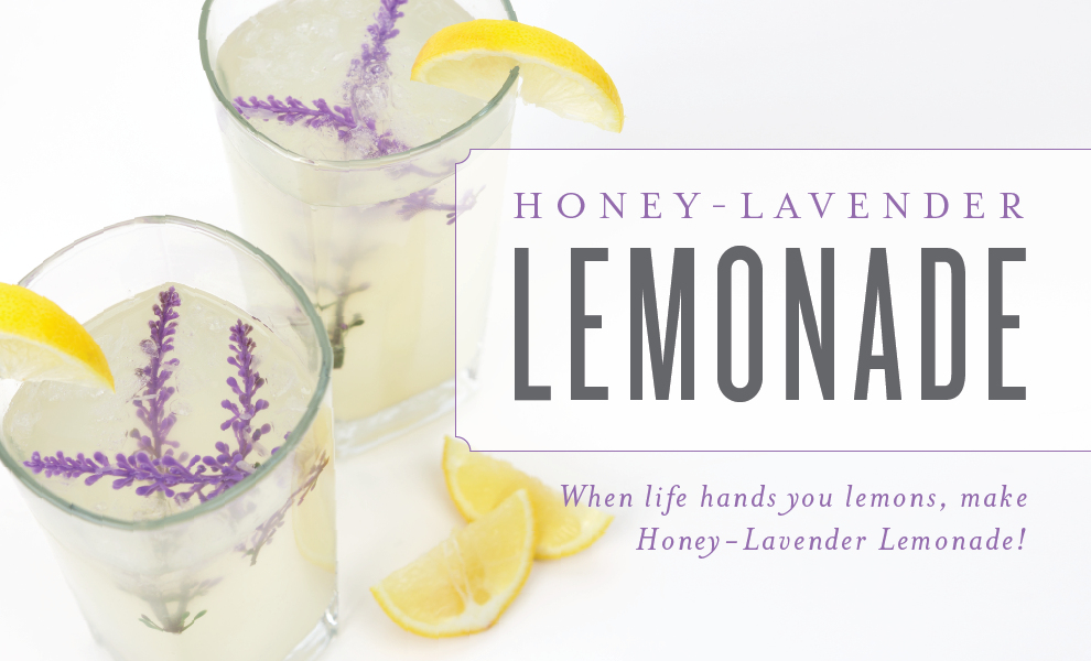 Honey-Lavender Lemonade with Young Living's Lavender Vitality Essential Oil