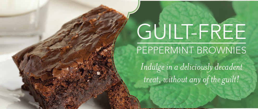 Young Living - Guilt-Free, Black Bean Brownies with Peppermint Vitality Essential Oil
