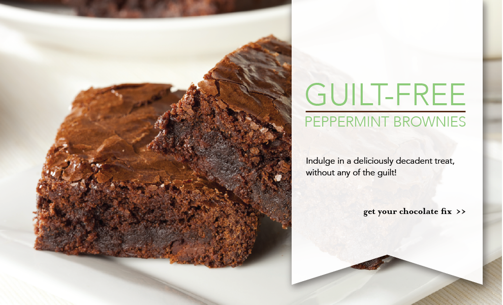 Guilt-Free Peppermint Brownies