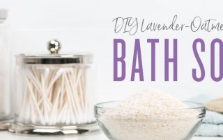 DIY lavender oatmeal bath soak