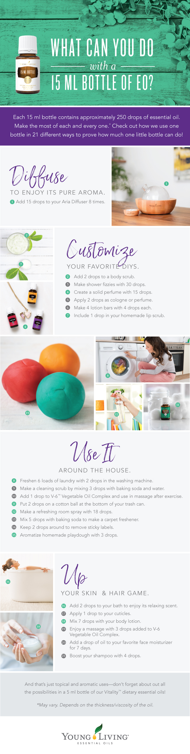 What can you do with a 15 ml bottle of essential oil