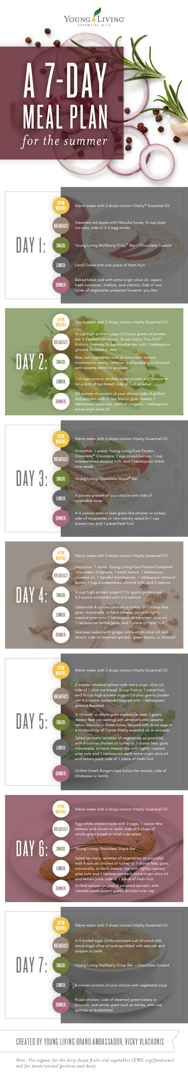 7-Day Meal Plan Infographic