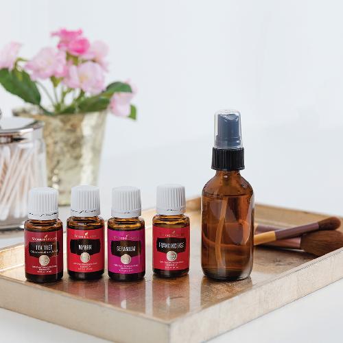 DIY Makeup Setting Spray - Young Living Essential Oils - Geranium, Myrrh, Frankincense, Tea Tree