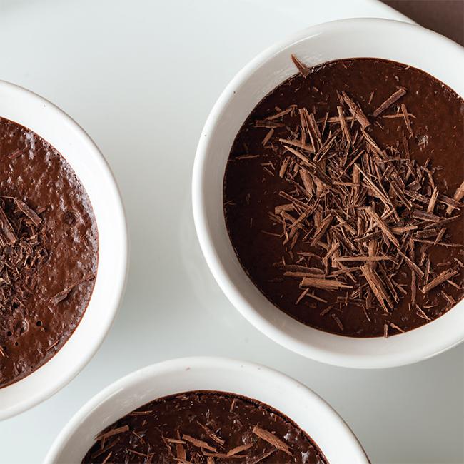 Orange Infused Chocolate Pots