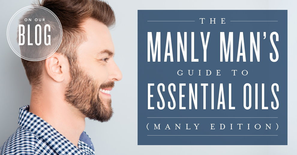 Man using essential oils
