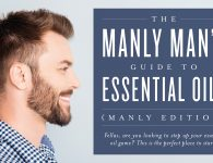 Man using essential oils