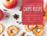 Cinnamon-Apple Chips Recipe with cinnamon essential oil header