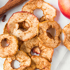 Cinnamon-Apple Chips Recipe with cinnamon essential oil tile