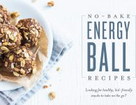 No Bake Energy Ball Recipe on a white plate