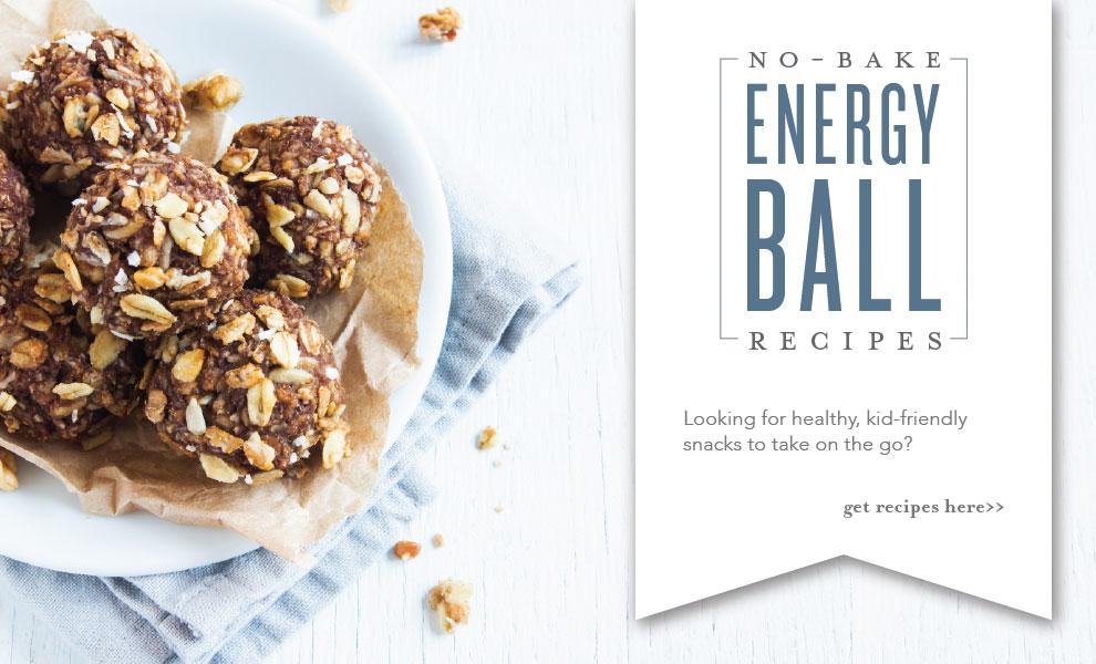 No Bake Energy Ball on a white plate